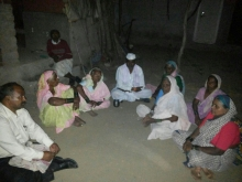 DYFI MAHARASHTRA delegation meeting the family members and villagers in Pathardi taluka of Ahmed Nagar district